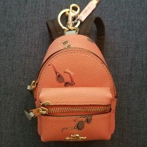 COACH Mini backpack keychain with sunglasses